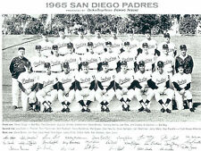 1965 SAN DIEGO PADRES PCL TEAM 8X10 PHOTO  BASEBALL CALIFORNIA USA
