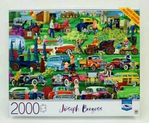 "Joseph Burgess ""Antique Car Show"" 2000 Piece Jigsaw Puzzle  Milton Bradley *NEW"