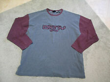 VINTAGE DKNY Long Sleeve Shirt Adult Extra Large RARE Donna Karen Gray Sweater S