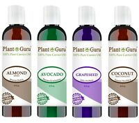 Carrier Oil Set 4 oz For Pure Essential Oil  Almond, Grapeseed, Avocado, Coconut