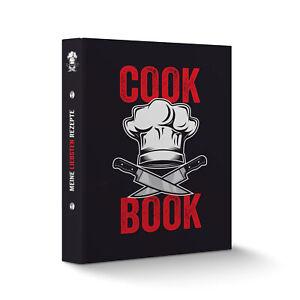 itenga Rezeptordner Kochrezepte-Ringbuch DIN A5 Cook Book Kochmütze Messer