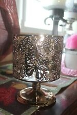 New ListingBath & Body Works Pedestal Gold Butterflies Candle Holder New!