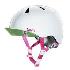 Bern Nina Girls Bike Skate Ski Helmet, zip mould, White, S-M 51.5-54. VJGGWTV