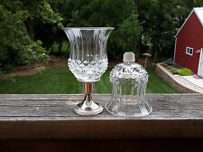 2 Homco 1201 Cathedral Diamond Peg Glass Votive Candle Holders W/New Grommets