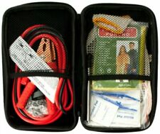 Vehicle Emergency Kit in Zippered Case First Aid Jumper cables gloves Car Truck