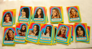 Charlies Angels Sticker lot series  2 x 6  23-33 Topp's 70's trading cards 421
