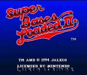 Super Bases Loaded 2 - SNES Super Nintendo Game