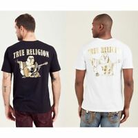 True Religion Men's Big Buddha Logo Gold Foil Metallic Tee T-Shirt