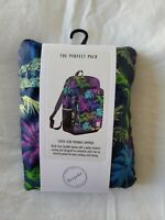 BRAND NEW Bespoke Lightweight Packable Travel Backpack - Tropical Pattern