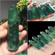 Natürliche Smaragd Punkt Quartz Kristall Rock Stein Grün Mineral Healing 4-6cm
