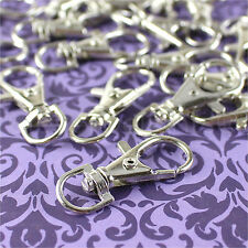 "100 Swivel Lobster Clasps - 1.5"" - Silver Color - Keychains Lanyards Connector"