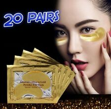 20 x Pairs Collagen Gold Eye Mask Patches Anti ageing moisturising crystal mask