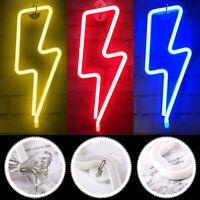 Neon Signs Wall Light LED Decorative Fun Peny Lightning Halloween Battery/USB