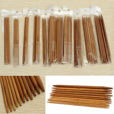 "55pcs/pack 11 Sizes 5"" 13cm Double Pointed Carbonized Bamboo Knitting Needles"