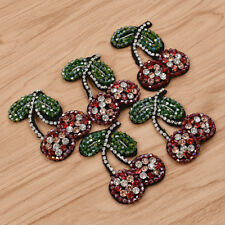 Rhinestone Cherry Patch Applique for Sewing Handwork DIY Lace Fabric 5 Pcs