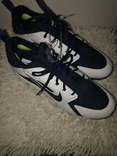Mens Athletic Nike Air Harache Size 14 Blue/white Cleats