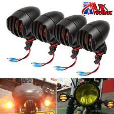 4x Aluminum Motorcycle Indicators Motorbike Bike Turn Signal Lights Bullet Bulb