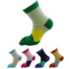 1 Pair Womens Middle Tube Sports Running Socks Soft Cotton Five Finger Toe Socks