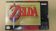The Legend of Zelda A Link to the Past, Super Nintendo, Complete in Box + map