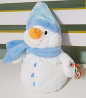 TY PLUFFIES COLLECTION WINDCHILL SNOW MAN PLUSH TOY WITH TAG SOFT TOY 20CM