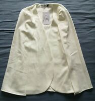 In The Style Women's White Maisy Cape Blazer Jacket Size 6 New With Tags