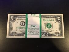 1976 Two Dollar ($2) Bill Uncirculated Consecutive Sequential BEP Wrap - 1 Note