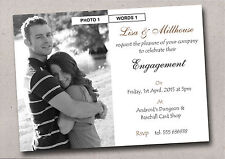 Your Photograph Engagement Invitations  - 5'' x 7'' - 50 cards