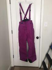 Columbia Sportswear Women's SnowSuit Suspenders Ski Bib Sz L Purple Clothes