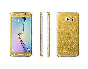 2 x Glitzerfolie Samsung Galaxy S6 Edge Bling Skins Sticker Folie Designfolien