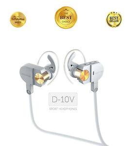 Wireless In-Ear Headphones Earbuds Bluetooth Headsets w/ Microphone