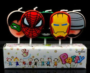 AVENGERS SPIDERMAN IRONMAN BATMAN Birthday Cake Candles Topper Party Decoration