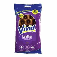 40x Leather Cleaning Wipes Protect Sofa Couch Furniture Shoes Bag Jacket Clothes