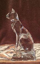 "HEY 👋 COLLECTORS: Beautiful J G Durand Crystal Cat Figurine 5.5"""