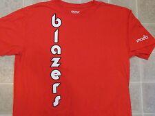 BLAZERS Downwards Logo T-SHIRT Mens XL Red Portland Basketball Moda Promo Trail
