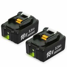 2x Batteries BL1860B 18V 5,5 Ah Lithium batteries remplacement Compatible Makita