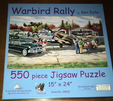 WARBIRD RALLY by Ken Zylla 550 pc Jigsaw Puzzles SUNSOUT #39802 Complete FREE SH