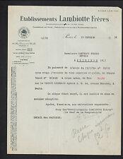 """PARIS (XVI°) USINE de Produit PHARMACEUTIQUE & CHIMIQUE """"LAMBIOTTE Freres"""" 1936"""