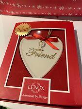 Lenox China Friend Christmas Ornament Ivory Heart