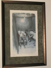 """THE BEATLES - KLAUS VOORMANN - SIGNED & FRAMED """"HAMBURG DAYS"""" LITHOGRAPH - RARE!"""