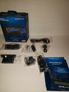 Sirius XM Radio SDSV6V1 Stratus 6 Satellite Radio Receiver + Vehicle Car Kit NOB