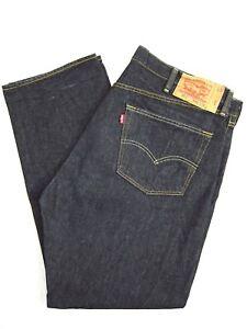 42 x 32 LEVI'S Schrumpf 501 Original Jeans Indigo Schwarz 501-0226 41 x 31