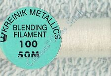 Kreinik Blending Filament 100 White Metallic Thread 50M Cross Stitch