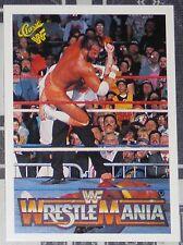 Hulk Hogan Macho Man Randy Savage 1990 Classic Wrestlemania V 5 WWF Card #99 WWE