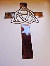 "Celtic Infinity Knot Metal Wall Cross 16 1/4"" x 10 1/4"" Copper/Bronze"