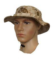 GI USMC Desert Digital Boonie Hat With EGA Logo  Size Small 8415-01-485-8139