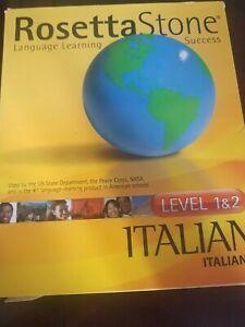 Rosetta Stone Level 1 & 2 Italian
