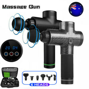 LCD Therapy Massage Gun Percussive Vibration Muscle Massager Sports Recovery AU