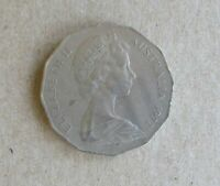 AUSTRALIAN DECIMAL....1972...50 CENT COIN....COAT OF ARMS..LOW MINTAGE