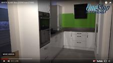 Ex Display white Gloss kitchen with worktops inc AEG Appliances worth £1686