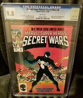 Secret Wars # 8 CGC 9.8 White (1984) 1st Black Suit symbiote; Spider-Man; Venom
